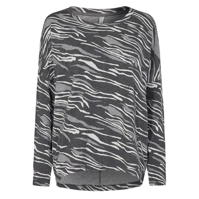 Soyaconcept Animal Print Long Sleeved Top